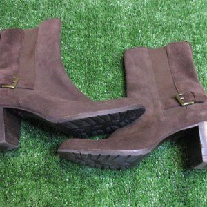 Cole Haan Brown Suede Ankle Boots 9 B